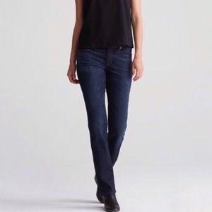 Eileen Fisher Dark Wash Organic Cotton Strait Jean